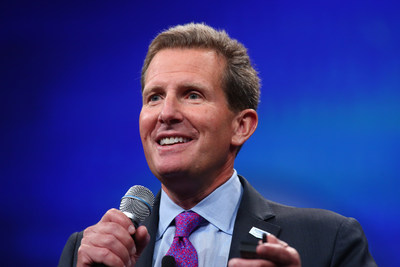 Geoff Ballotti, Wyndham Hotel Group president and CEO, welcomes approximately 6,000 attendees at the hospitality giant's 2016 Global Conference in Las Vegas this week.