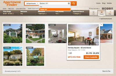 ApartmentFinder.com Photo View Option.  (PRNewsFoto/Network Communications, Inc.)