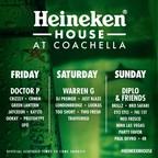 Diplo & Friends, Warren G To Headline Heineken House At Coachella Valley Music And Arts Festival