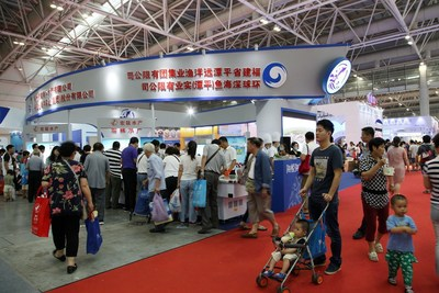 Mr. Xinrong Zhuo, Chairman and CEO of Pingtan Marine Enterprise Ltd. (PME) was introducing the Pingtan's products to potential buyers.