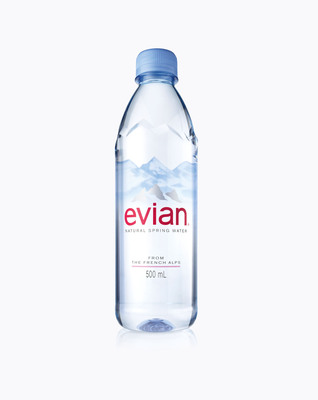 evian(R) Natural Spring Water Debuts New Bottle Design in U.S.  (PRNewsFoto/Evian North America)