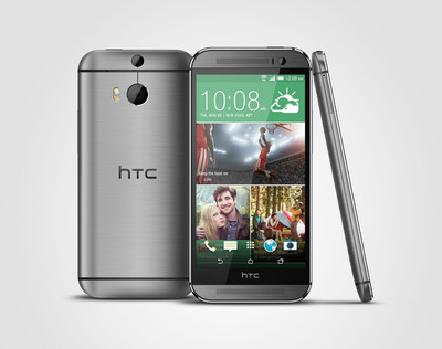 The newly unveiled HTC One (M8) gets additional protection and functionality with the addition of the Dot View case, which protects the screen, while providing additional functionality by displaying notifications and interactions in a sleek retro, dot-matrix style.  (PRNewsFoto/HTC)