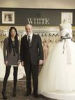 Vera Wang and Bob Huth, President and CEO of David's Bridal.  (PRNewsFoto/David's Bridal)