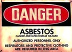 Asbestos warning sign (PRNewsFoto/Texas Mesothelioma Victims Cente)