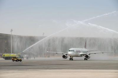 Water Salute Qatar Airway (PRNewsFoto/NDIA Steering Committee)