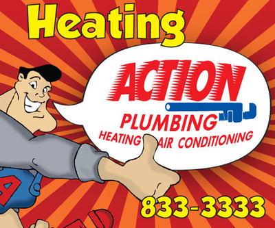 Action Plumbing & Heating. (PRNewsFoto/Action Plumbing Heating Air and Electric) (PRNewsFoto/ACTION PLUMBING HEATING AIR&ELEC)