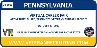 Pennsylvania Virtual Career Fair for Veterans. (PRNewsFoto/Veteran Recruiting)