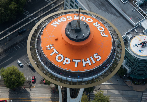 Space Needle Asks the Nation to 'Top Off Our 50th' with a Fresh Paint Job