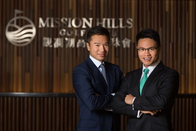 From Right to Left Dr. Ken Chu, Chairman and CEO of Mission Hills Group and Mr. Tenniel Chu, Vice Chairman of Mission Hills Group. Dr. Ken Chu Inducted into Asia Pacific Golf Hall of Fame