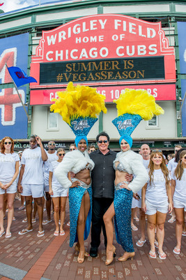 Las Vegas takes over Wrigley Field with Wayne Newton to spread Vegas Season cheer! (PRNewsFoto/Las Vegas Convention and Visitor)