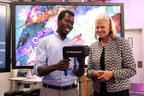 IBM Chairman, President and CEO Ginni Rometty at the Opening of IBM Research in Johannesburg, South Africa. On Thursday, August 25, 2016, Geoffrey Siwo, a scientist at IBM Research - Africa demonstrates to IBM Chairman, President and CEO Ginni Rometty how the newly opened lab in Johannesburg, South Africa is using cognitive, cloud computing, and the Internet of Things to address challenges in healthcare, urban ecosystems and to make new discoveries in the universe. (PHOTO CREDIT/IBM)