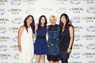 2014 winners of L'Oreal USA's NEXT Generation Awards, and Rachel Weiss, VP of Digital Innovation and Entrepreneurship at L'Oreal USA