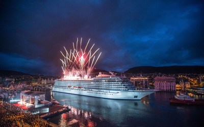 Viking Ocean Cruises christened its first ship, the 930-passenger Viking Star in Bergen, Norway, marking a significant milestone in the arrival of the travel industry's first entirely new cruise line in a decade. The ceremony occurred in conjunction with a citywide celebration for Norwegian Constitution Day on May 17 and featured parades, parties and a public concert in the harbor that was attended by approximately 20,000 local residents and visitors.