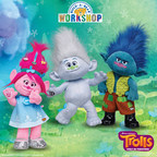 Build-A-Bear Workshop today unveiled a collection of Make-Your-Own Trolls, as well as costumes and accessories, based on DreamWorks Animation's Trolls feature film, in U.S. theaters Nov. 4. The line includes huggable Trolls plush (left to right) Poppy, Guy Diamond and Branch, in addition to a pre-stuffed Cooper (not pictured).