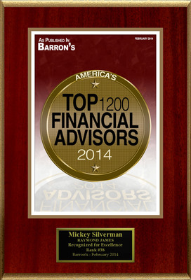 "Mickey Silverman Selected For ""America's Top 1200 Financial Advisors"". (PRNewsFoto/American Registry) (PRNewsFoto/AMERICAN REGISTRY)"