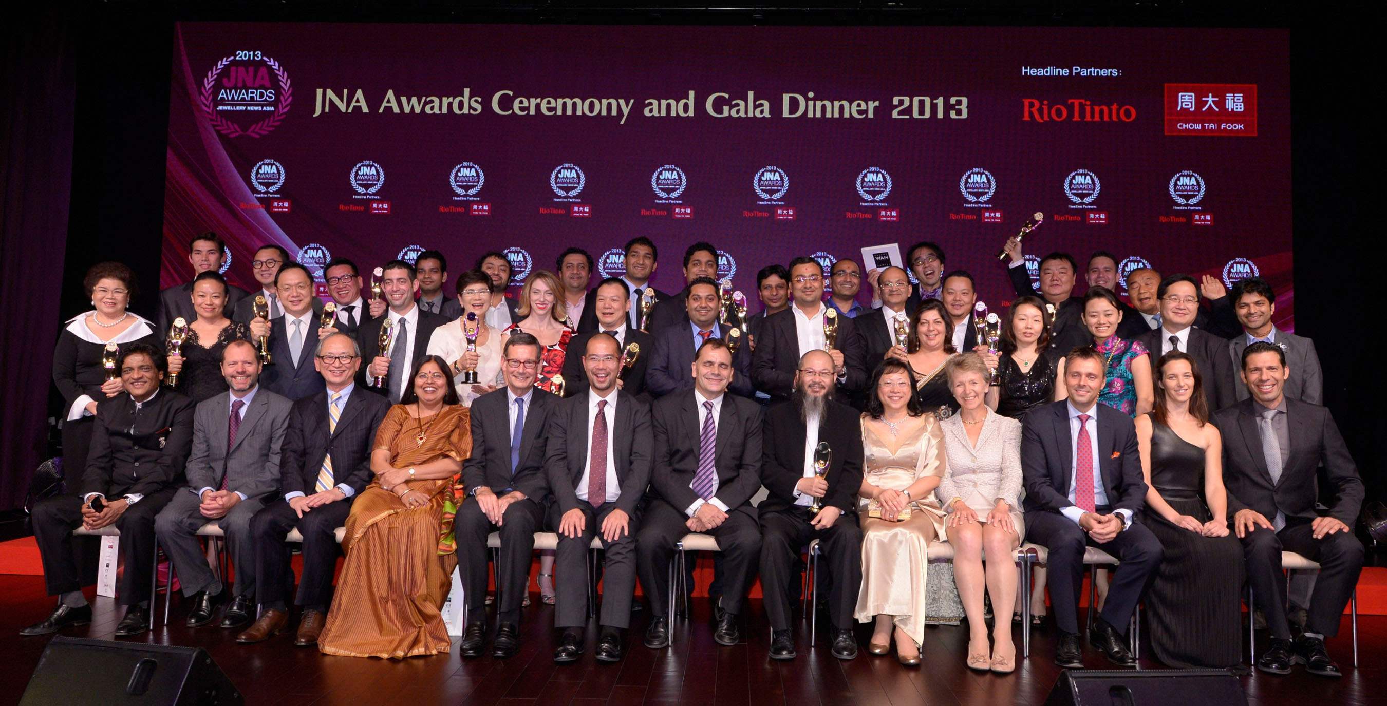 The JNA Awards honors the jewellery industry's leaders who represent excellence, innovation and success. (PRNewsFoto/UBM Asia Ltd) (PRNewsFoto/UBM ASIA LTD)
