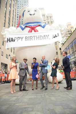 The Stay Puft Marshmallow Man from Ghostbusters(TM) makes a surprise appearance on NBC's TODAY to wish Al Roker a Happy Birthday. (PRNewsFoto/Sony Pictures Entertainment)