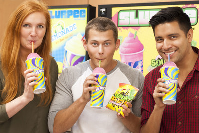7-Eleven(R) and SOUR PATCH KIDS partner for New SOUR PATCH(R) Watermelon flavored Slurpee(R). The newest Slurpee flavor will be exclusively available at participating 7-Eleven stores beginning July 1.
