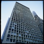 The high-rise Cook County Administration Building in Chicago, which suffered a multiple-fatality fire in 2003.