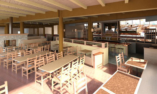 Rendering of Ivar's Salmon House Whalemaker Lounge.  (PRNewsFoto/Ivar's Restaurants)