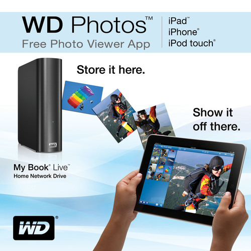 WD Photos™ Free Photo Viewer App for iPad™ and iPhone® Accesses Images Stored on WD® Network Drives