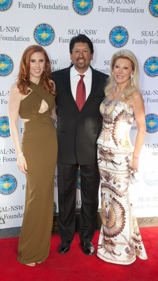 From left to right: NSW - Family Foundation 2016 Annual Fundraiser event co-chair Dominique Plewes,  MLB pitching record-holder Jesse Orosco, event co-chair and philanthropist Madeleine Pickens