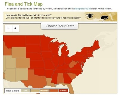 WebMD Flea and Tick Map
