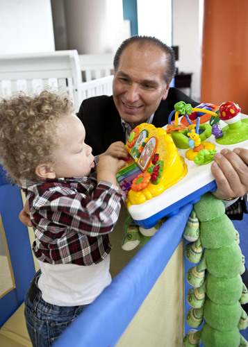 Joe Shamie, President of Delta Children's Products, donates cribs to The New York Foundling in honor of ...