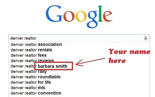 Example of Google Autocomplete Keyword Branding (PRNewsFoto/MikeMunter.com)