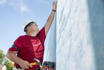 Bank of America employees will work alongside Habitat homeowners in eight countries to build strength, stability and self-reliance through shelter during the Global Build.