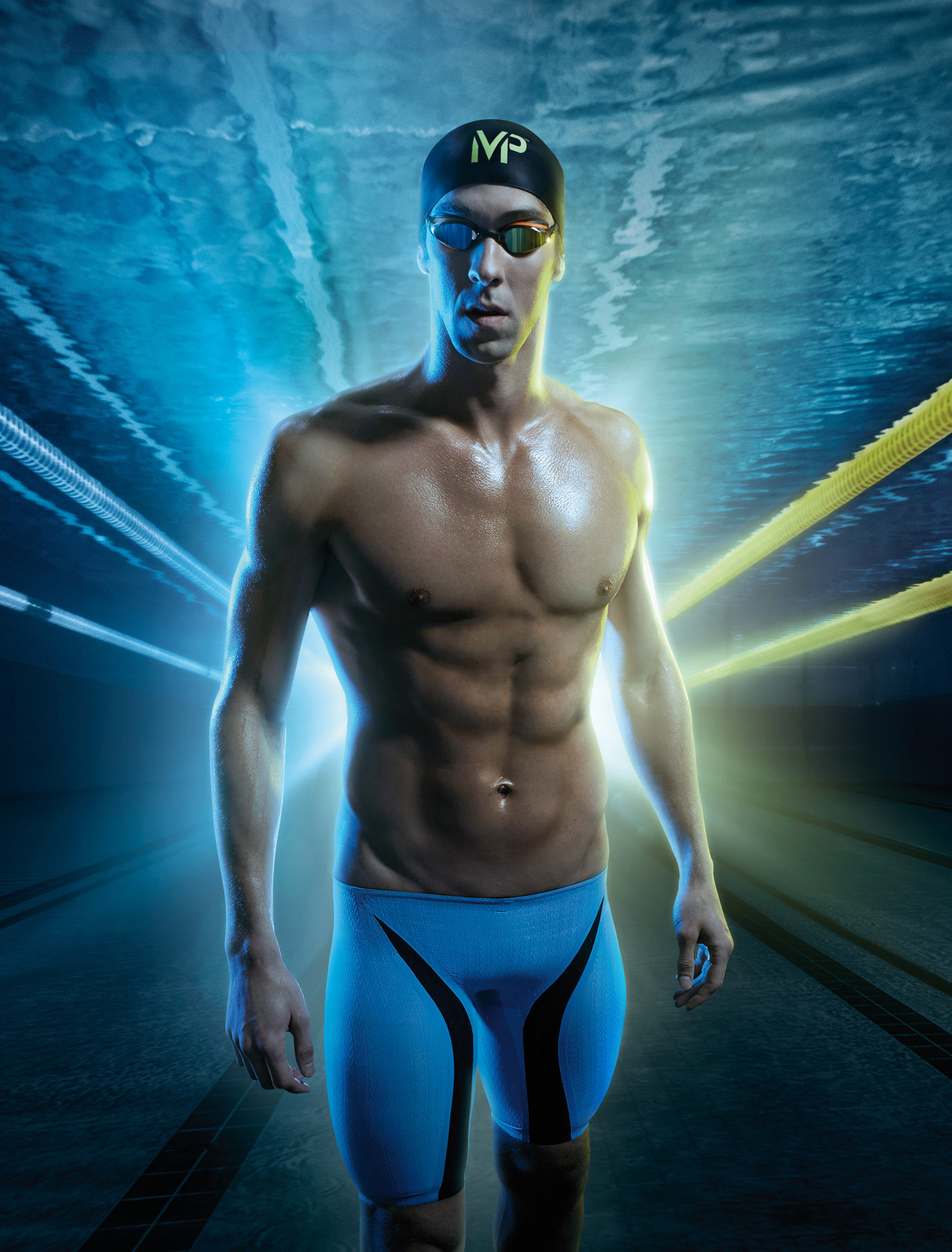 """Michael Phelps and Aqua Sphere launch """"MP"""" brand with release of collaboration's first competitive swim suit - XPRESSO. The 2015 MP product line features the XPRESSO racing suit, K180 and K180  performance goggles, and the Focus Swim Snorkel."""