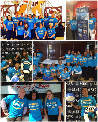 MSC Cruises shows off their #CruiseSmile as part of Plan a Cruise Month