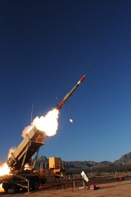 A Lockheed Martin PAC-3 MSE Missile launches in a recent test.