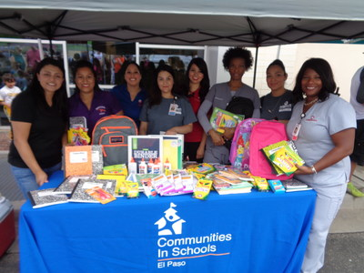Neighbors Emergency Center in El Paso supported Communities in Schools this Fall through a drive for school supplies.