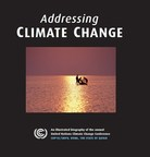 """Addressing Climate Change"", a stunning new book by award-winning photographer Henry Dallal being released on October 14th, captures the art, science, and diversity of climate change negotiations, and has been endorsed by Michael Douglas, Ed Norton, Yoko Ono, and Ban Ki-moon, among others. (PRNewsFoto/Gilgamesh Publishing)"