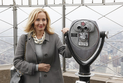 J.K. Rowling lights up the Empire State Building today (April 9, 2015) to mark the launch her children's non-profit organization, Lumos USA, which works to end the institutionalization of 8 million children around the world living in orphanages despite most having parents and families that could care for them with some support.