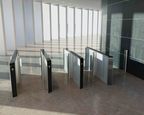 KONE turnstile 100 sets a new standard for access gate usability, flexibility, and visual appearance. (PRNewsFoto/KONE)