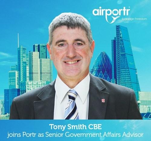 Tony Smith CBE joins Portr as Senior Government Affairs Advisor (PRNewsFoto/AirPortr)