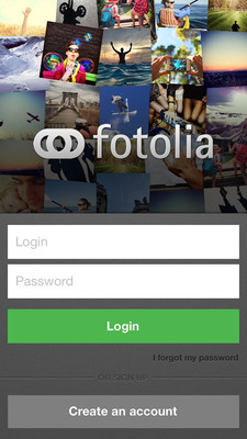 The Fotolia Instant iPhone app available in the iTunes App Store now. Available for Google Android soon!  (PRNewsFoto/Fotolia)