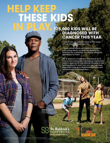 Samuel L. Jackson in the new PSA with St. Baldrick's Foundation and Stand Up To Cancer (SU2C). (PRNewsFoto/Stand Up To Cancer) (PRNewsFoto/STAND UP TO CANCER)