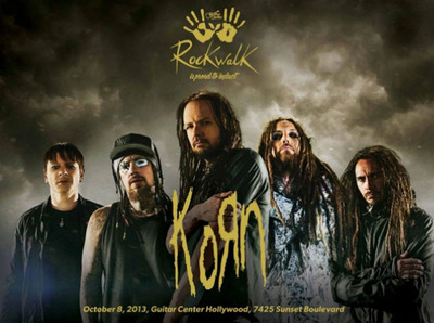 Grammy Award-Winning Hard Rock Innovators Korn to be Inducted into Guitar Center's Historic RockWalk.  (PRNewsFoto/Guitar Center)
