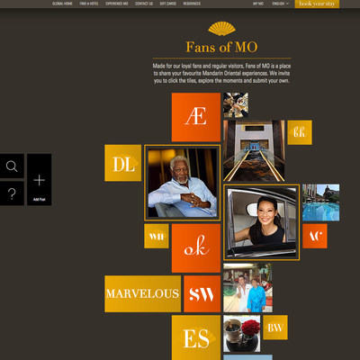 'Fans of MO' encourages guests to post their experiences to an artfully curated social stream at mandarinoriental.com