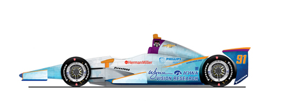 Lazier Racing Partners Indy 500 car. (PRNewsFoto/University of Iowa Foundation)