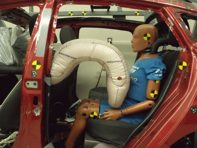 TRW is today outlining at Airbag 2014 how a combination of advanced restraint systems can help to address the protection of rear seat occupants during frontal impacts. Airbags that address features distinctive to the rear seat environment, when implemented with advanced seat belt systems, can help to reduce injury to rear seat occupants.