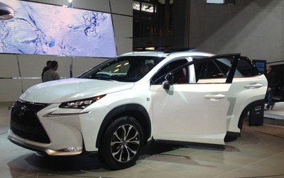 The all-new Lexus NX at the New York Auto Show. (PRNewsFoto/New York International Auto Show)