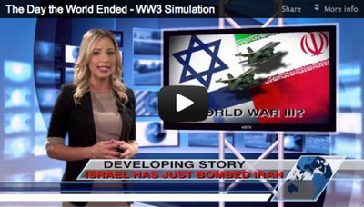 Israel Strikes Iranian Nuclear Sites In New WW3 Simulation.  (PRNewsFoto/Future Money Trends LLC)
