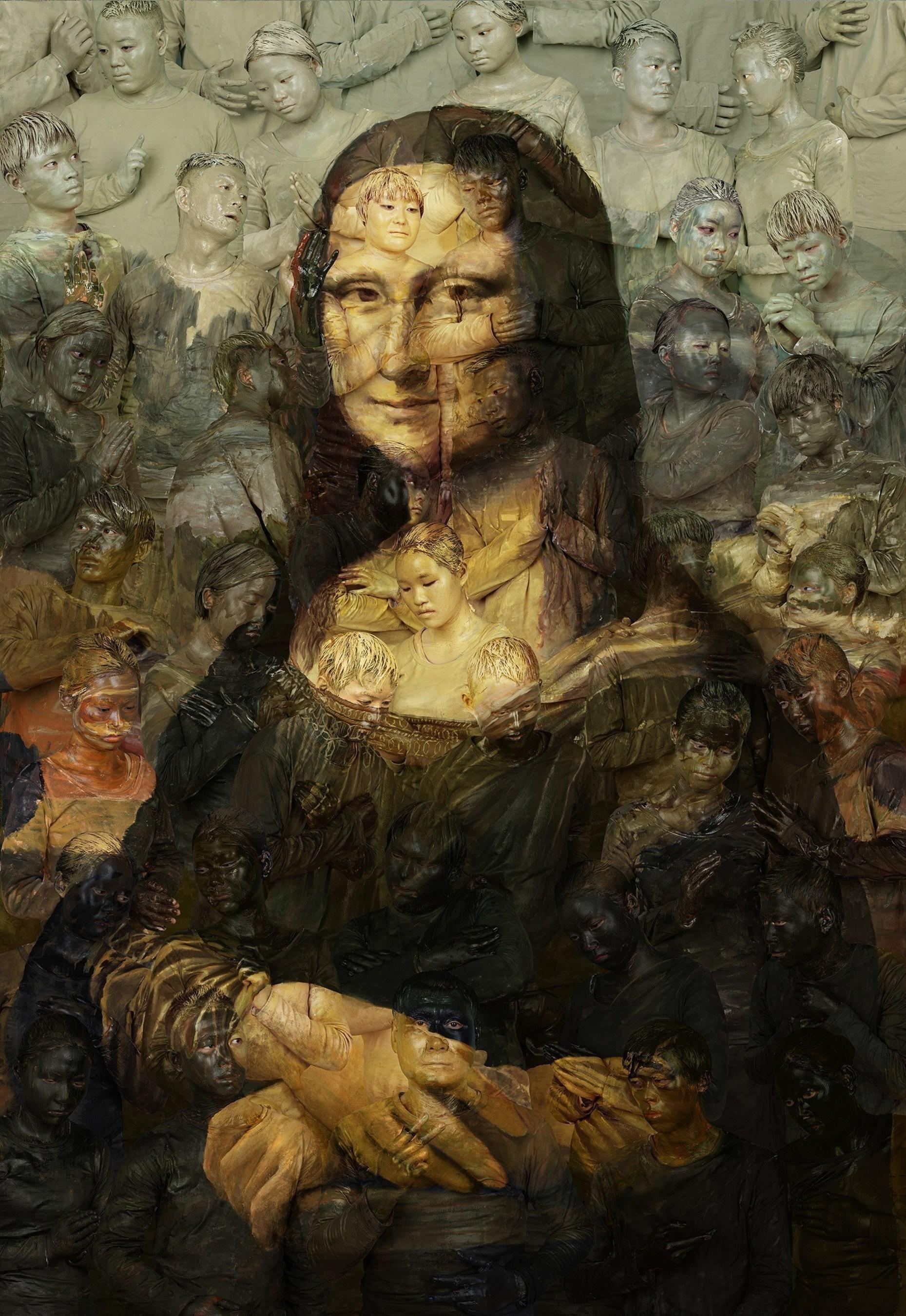 Liu Bolin, Mona Lisa, 2016
