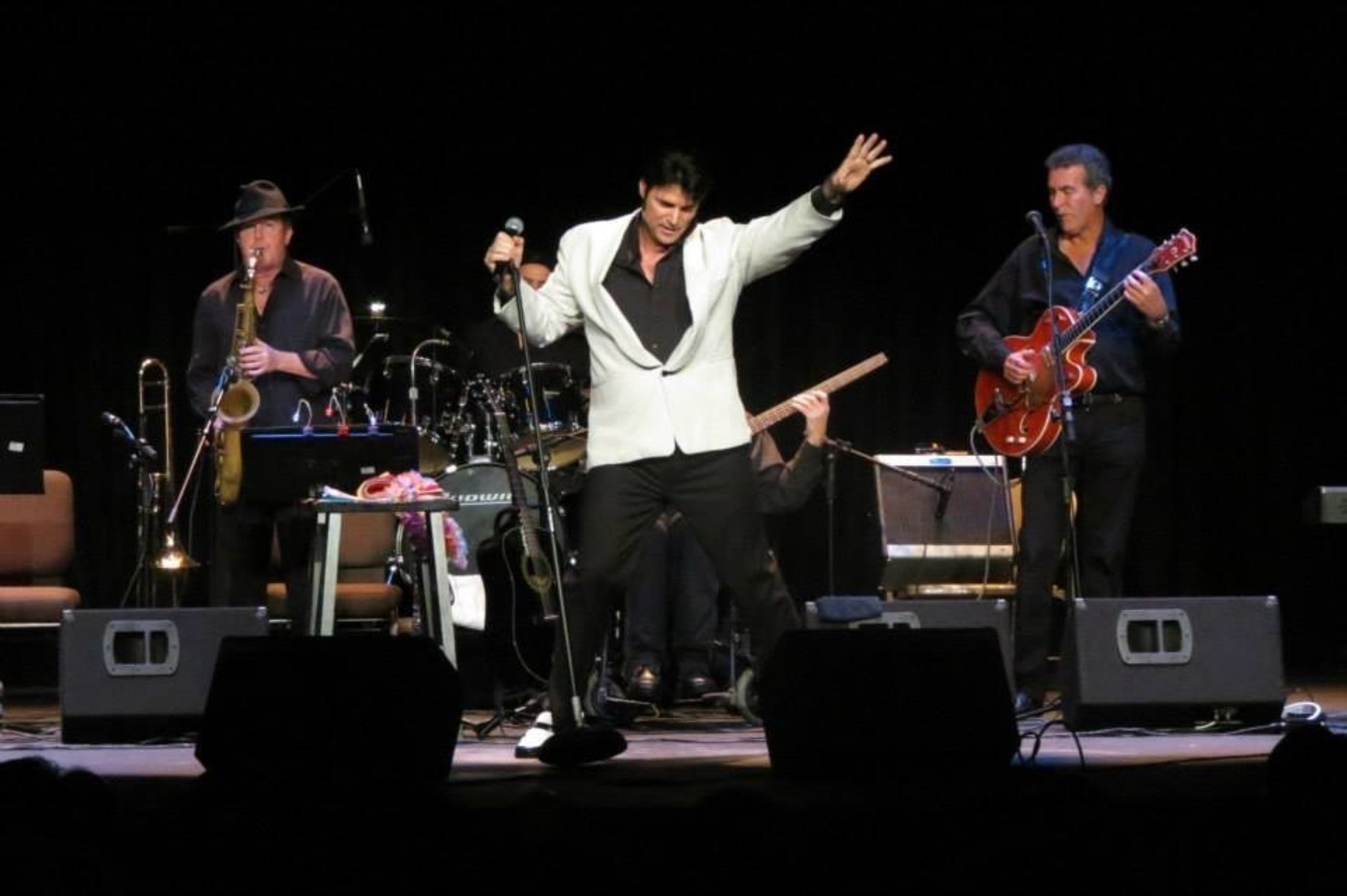 """Chris MacDonald's Memories of Elvis Live On Stage Performing the Song """"Hound Dog"""""""