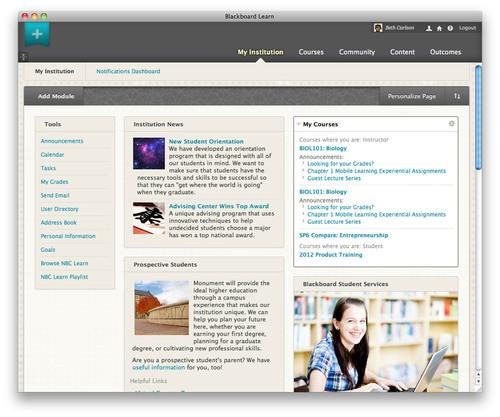 Blackboard Learn 9.1, Service Pack 8.  (PRNewsFoto/Blackboard Inc.)