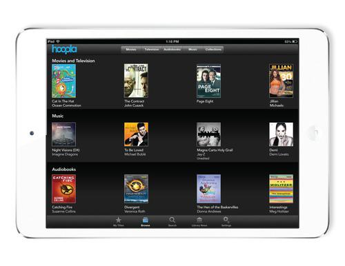 hoopla digital's app offers a seamless experience for patrons.  (PRNewsFoto/hoopla digital)